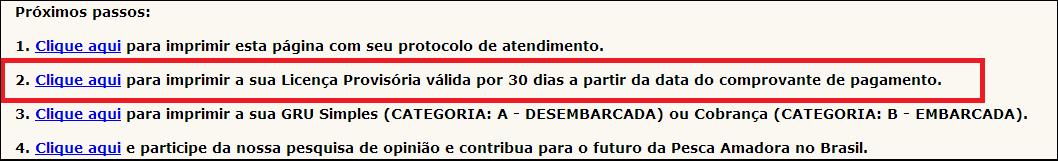 como tirar licença de pesca passo 7 no pescanorio.com.br