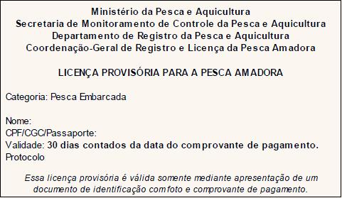 como tirar licença de pesca passo 7.2 no pescanorio.com.br