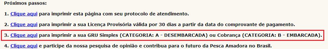 como tirar licença de pesca passo 8 no pescanorio.com.br