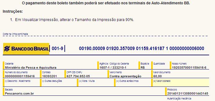 como tirar licença de pesca passo 8.1 no pescanorio.com.br