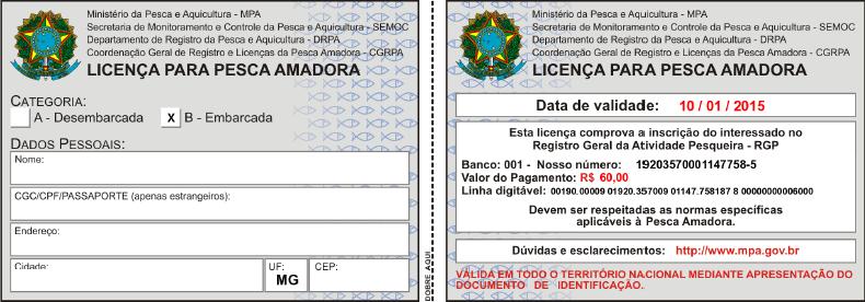 como tirar licença de pesca passo 9 no pescanorio.com.br